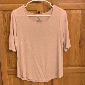 Apt.9 light pink short sleeve top.